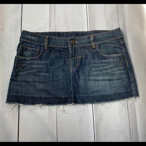 Topshop. Denim Mini Skirt. Size 10.